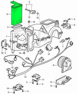 Service Manual  1997 Porsche 911 Heater Blower Replace