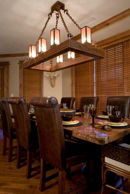 ski slope chandelier rustic dining room sacramento