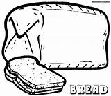Bread Coloring Pages Colorings Food Bread5 sketch template