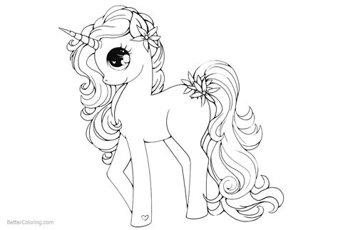 unicorn coloring pages   pony style