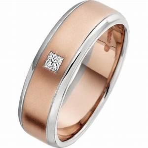 diamond ring diamond set wedding ring for men in 18ct rose With rose gold wedding rings for men