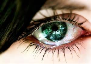 Green Eye Crying Tears