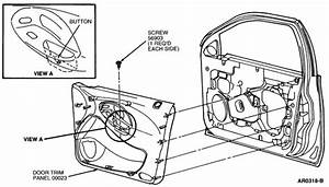 How To Take Off Inside Driver Door Panel For 1998 Taurus