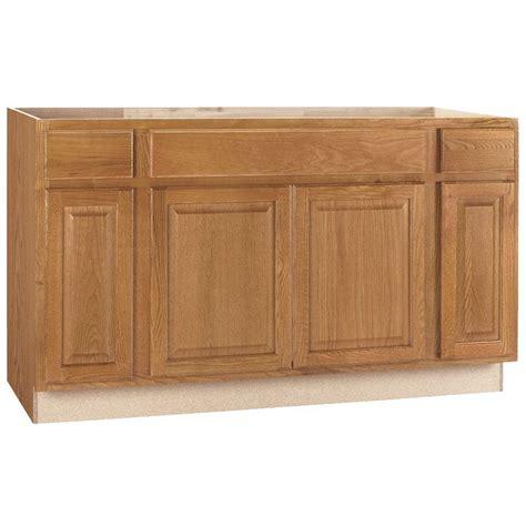 oak kitchen cabinets home depot hton bay hton assembled 60x34 5x24 in sink base