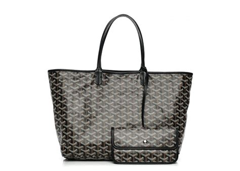 goyard st louis tote monogram chevron pm black