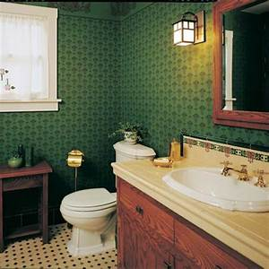 modest arts crafts bungalow bathroom old house With arts and crafts bathroom ideas