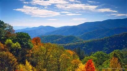 Smoky Mountains Fall Mountain Desktop Carolina North