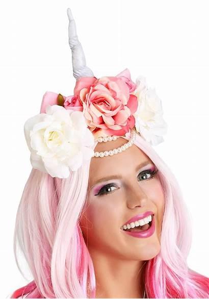 Unicorn Crown Flower Accessory Costumes Halloween Rainbow
