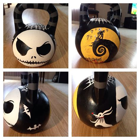 kettlebell painted custom crossfit kettlebells creativity nightmare fitness training before equipment christmas kettle painting bell workout