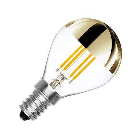 dimmbare  led birne filament gold reflect