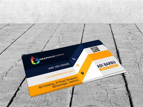 elegant realistic  business card design graphicsfamily