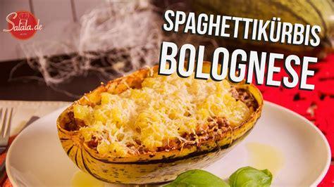spaghettikuerbis bolognese  carb kochen salalade
