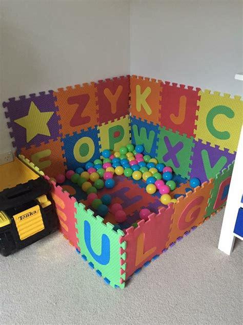 foam alphabet mats     ball pit diy baby