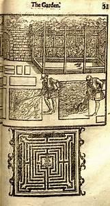 Diagram Of A Garden Maze And An Engraving Of Agricultural