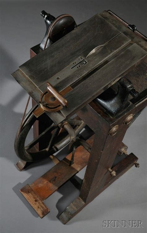 treadle powered table  sale number  lot number