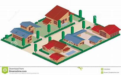 Residential Cartoon District Map Vector Area Clipart