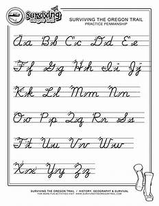 cursive a z extra large print third grade edu With cursive letters for 3rd graders