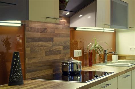 Küchenrückwand Aus Holz Statt Fliesenspiegel  20 Ideen
