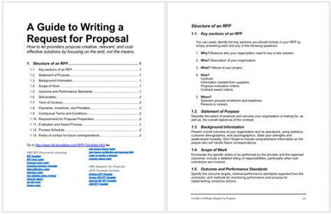 rfp templates  write  great request  proposal