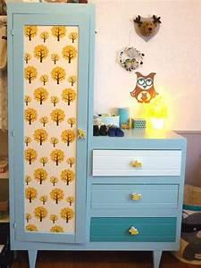 Papier Deco Meuble : customiser ses meubles avec des chutes de papier peint ~ Teatrodelosmanantiales.com Idées de Décoration