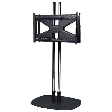 floor mounted screen premier mounts 84 inch dual display floor stand with