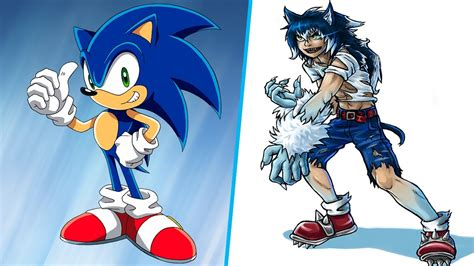 Sonic Human Version All Characters Youtube