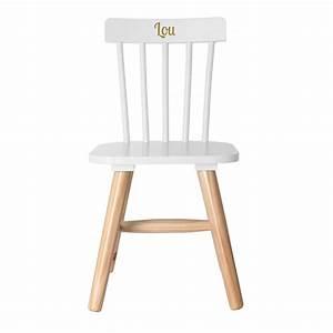 Chaise Enfant Personnalisé : chaise pour enfant blanche grav e ~ Teatrodelosmanantiales.com Idées de Décoration