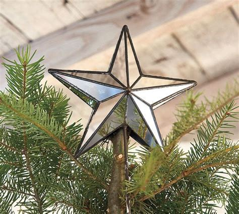 mirrored star tree topper holidays pinterest