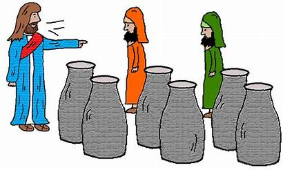 Wine Jesus Water Into Turns Clipart Sunday