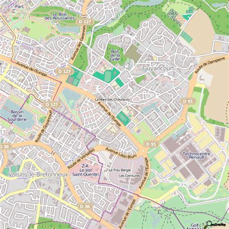 meilleur site cuisine plan guyancourt carte ville guyancourt