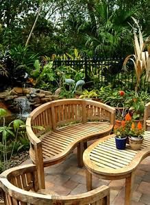 Gartenbank Aus Holz Oder Anderen Materialien