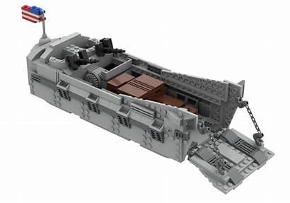 Moc Craft Landing Wwii Boat Higgins Lego