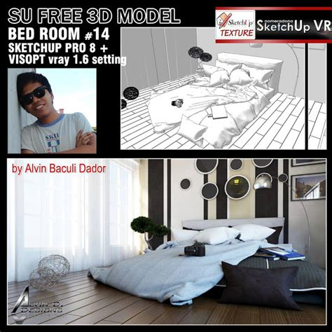 Sketchup Texture Free 3d Model Bed Room #14 And Visopt
