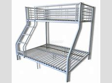 New White Metal Triple Children Sleeper Bunk Bed Frame No