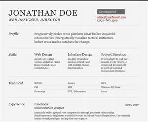 25 free html resume templates for your successful online for Html resume