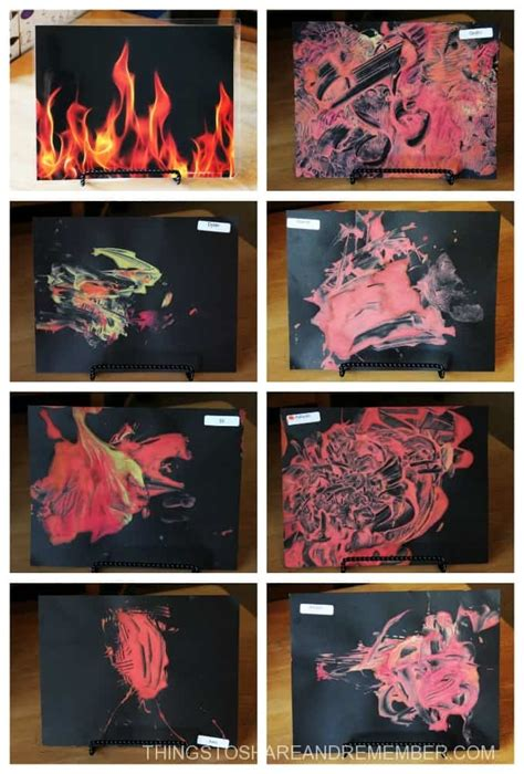 community helpers firefighters 106   Fire paintings collage