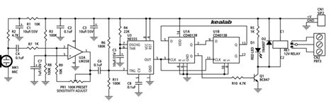 Sound Activated Switch Relay Electronics Lab