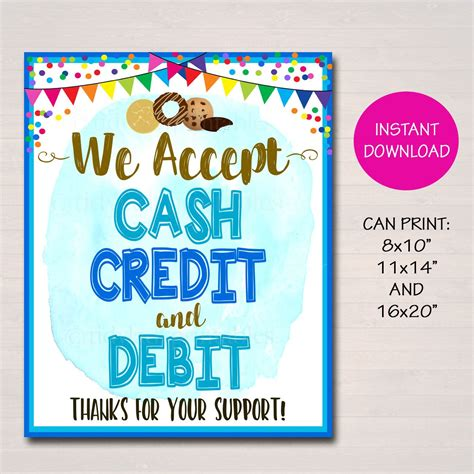 We did not find results for: We Accept Payments Sign Cash Credit Debit Fundraising ...