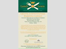"Lunch and Learn ""Creating an Effective Email Marketing"