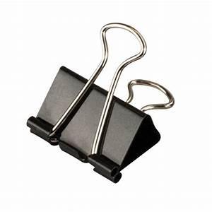Crown Bolt Medium Black Binder Clip 25 Per Pack 66187