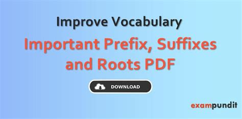 List Of Important Prefix Suffix Pdf Archives Exampunditin