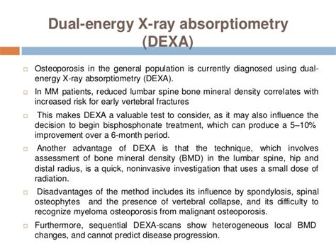myeloma multiple absorptiometry cost dual ray energy