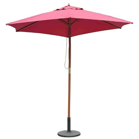 outsunny 2 5m wooden garden parasol patio outdoor umbrella in red wine aosom co uk