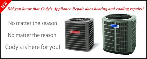 hvac banner codys appliance repair