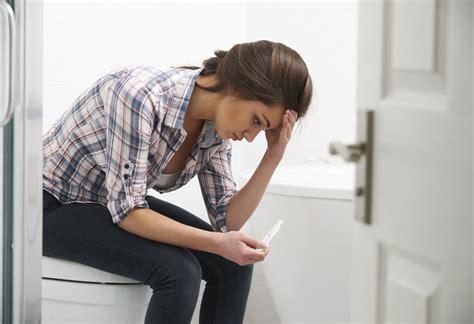 negative pregnancy test   period