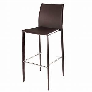 Chaise De Bar Metal : chaise de bar en cuir recycl et m tal chocolat klint maisons du monde ~ Teatrodelosmanantiales.com Idées de Décoration