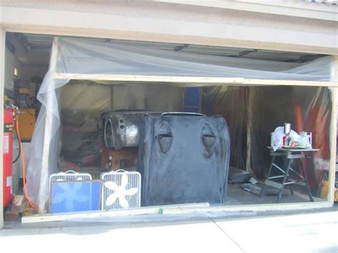 Homemade Paint Booth In Garage  Home Painting