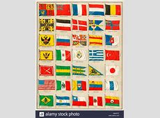 Flags of 1880, including Asian, European, North African
