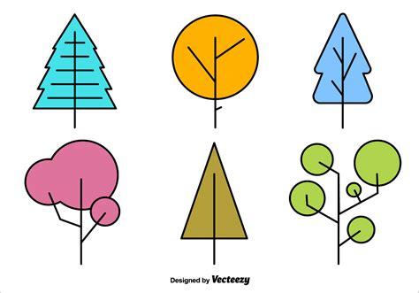 Abstract Minimalist Geometric Shapes by Geometric Minimal Tree Vector Shapes Free