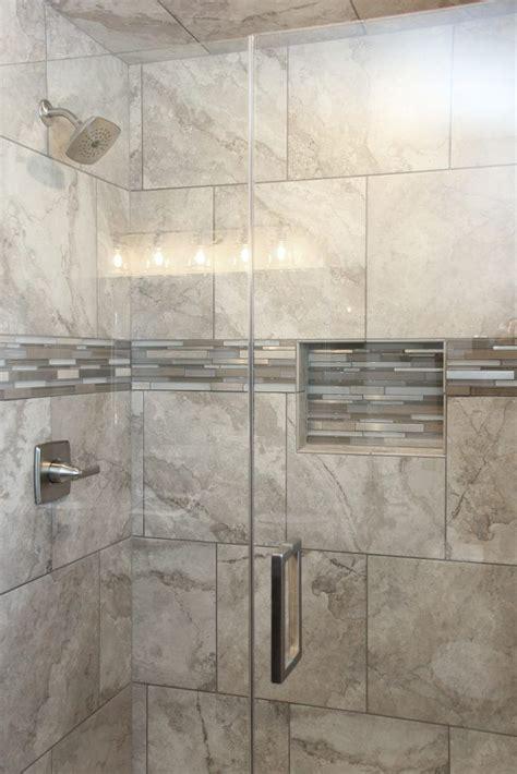 shower tile montecelio  argento accent tile